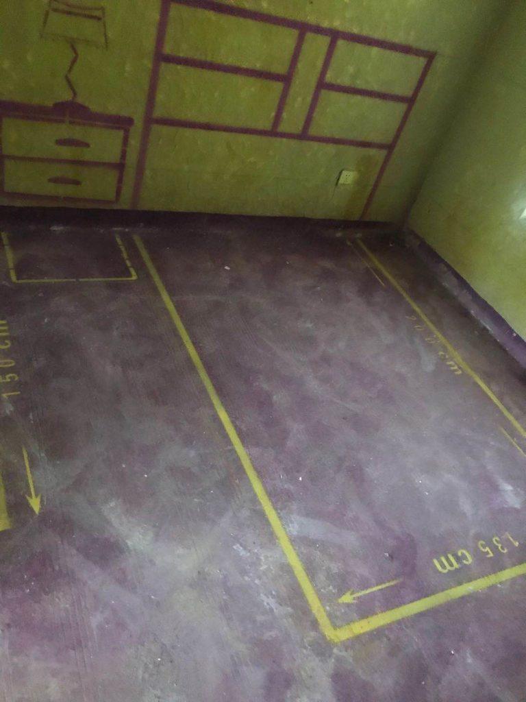 和地蓝湾5-702 黄墙紫地加放样