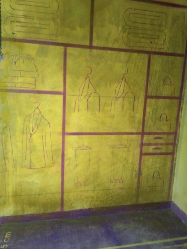 玫瑰园黄墙紫地/全景放样