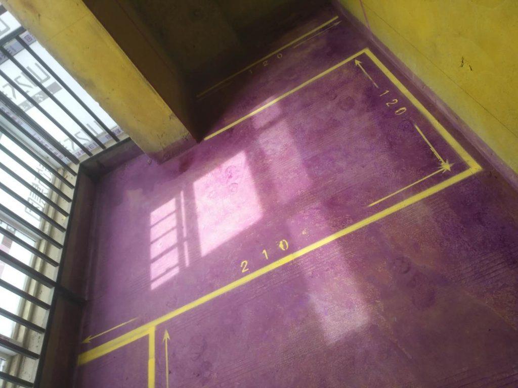 光明金座公寓-黄墙紫地/全景放样