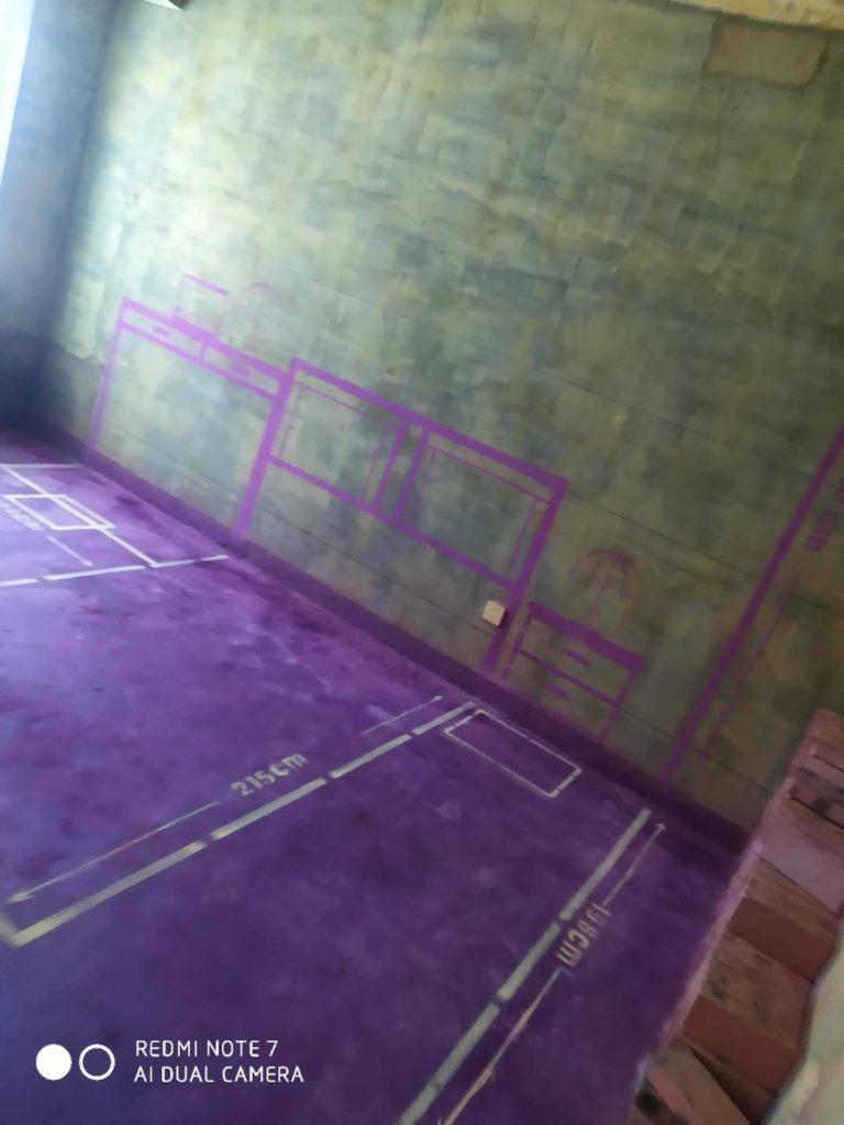 公园里-黄墙紫地/全景放样