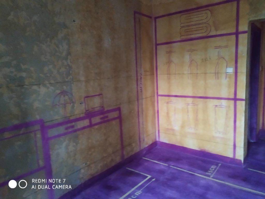 名邦中央公馆-黄墙紫地/全景放样
